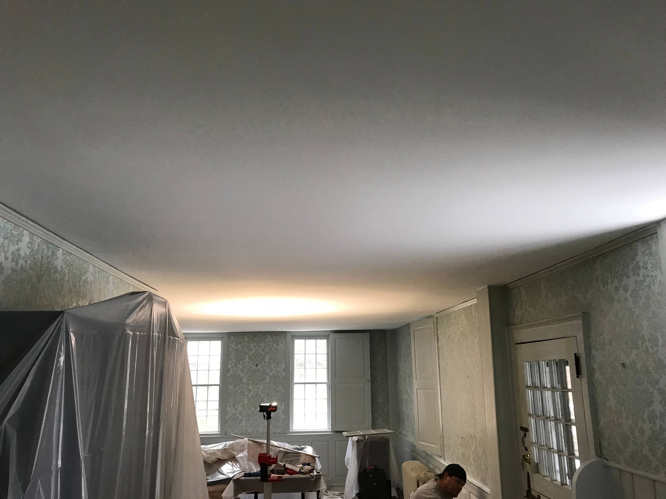 1780's Historic Home Ceiling Repair and Painting Project