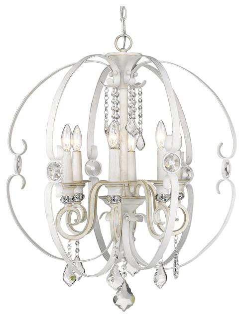 Golden Lighting Chandelier To Golden Lighting Ella 6light Chandelier French White Traditional