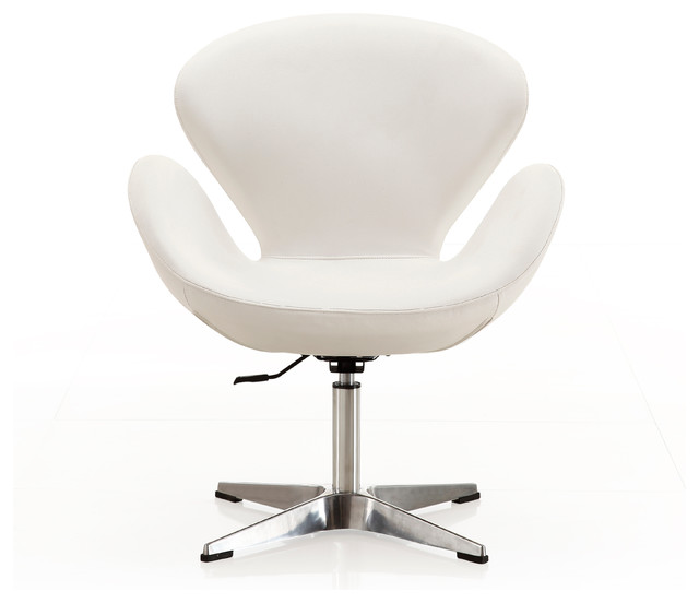 Blueberry Retro Swivel Chair, White.