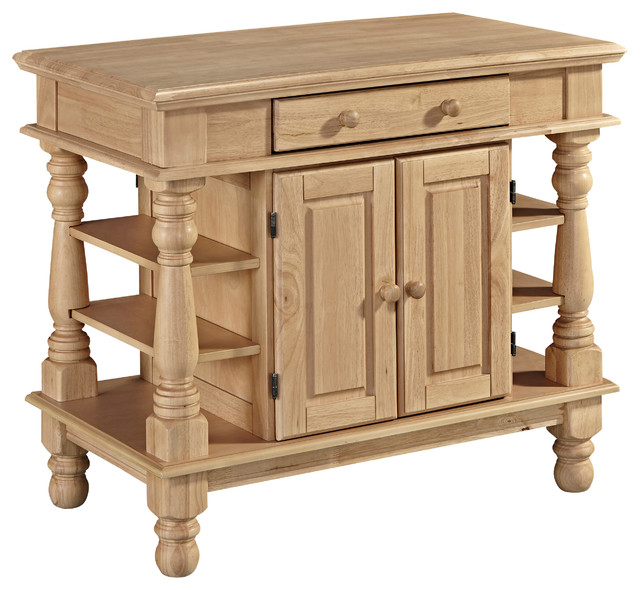 Americana kitchen island natural kitchen islands and for Home styles natural kitchen cart with storage