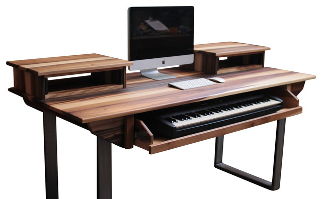 studio desk for audio video film graphic design medium 61key 72w - Graphic Design Desks
