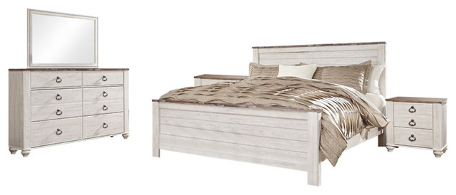 Ashley Willowton 5 Piece Queen Panel Bedroom Set White