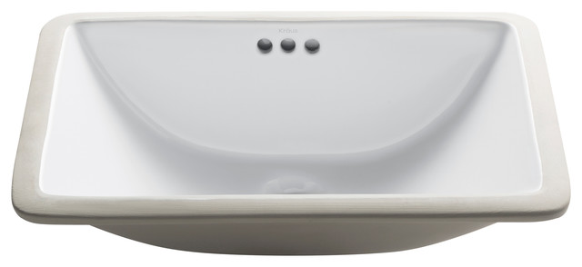 21 in. Rectangular Bathroom Sink with Overflow in White