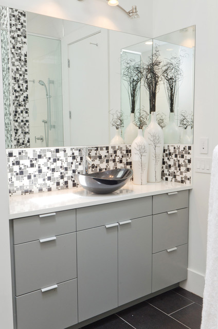 white and grey tile bathroom modern minimal black white and grey tile bath 24609