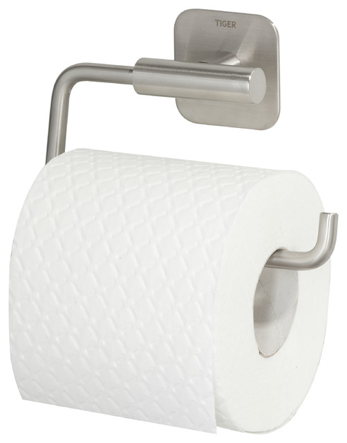 Toilet Roll Holder Self Adhesive Tiger Colar Brushed Stainless Steel Contemporary Paper Holders By Present Usa Company