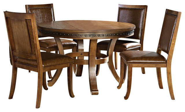 Steve Silver Ashbrook 5 Piece 48 Inch Round Dining Room Set