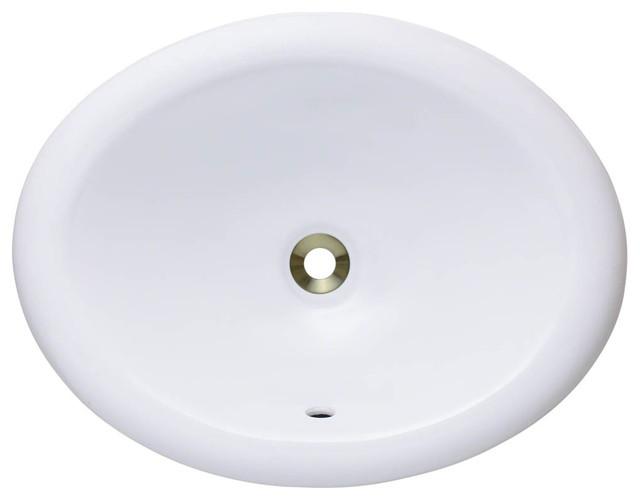 Polaris P7191ow White Overmount Bathroom Sink
