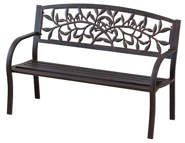 Vine Metal Indoor Outdoor Garden Bench
