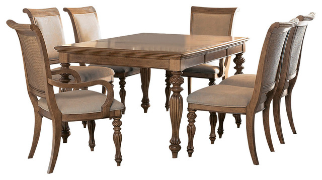 piece leg dining room set in amber traditional dining sets by