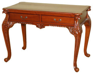 Ordinaire Cherry Chippendale Queen Anne Writing Desk Table W/ Drawers   Victorian    Desks And Hutches   By MBW Furniture