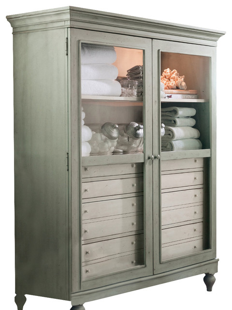 Paula Deen Home Lady's Cabinet, Spanish Moss - Farmhouse - Bathroom Cabinets And Shelves - by ...