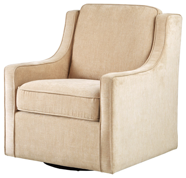 Madison Park Harris Chenille Swivel Chair Transitional