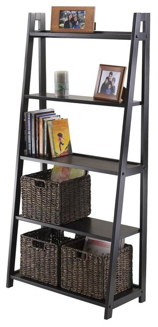 5-Tier A-Frame Ladder Shelf - Transitional - Display And Wall ...