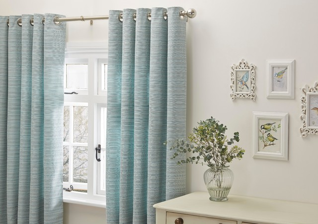 Cream And Duck Egg Blue Striped Curtains - Best Curtains 2017