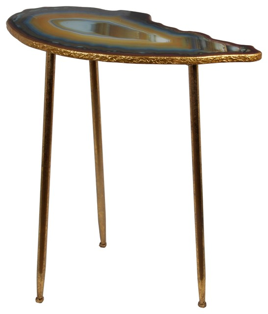 Accent table gold leaf eclectic side tables and end tables by