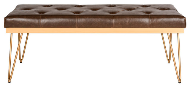 Dawkins Bench, Brown And Gold.