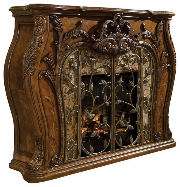 Aico Palais Royale Electric Fireplace Rococo Cognac