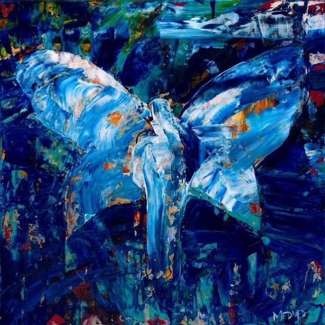 Quot Angel 3 In Cobalt Amp Mediterranean Blue Quot Original By