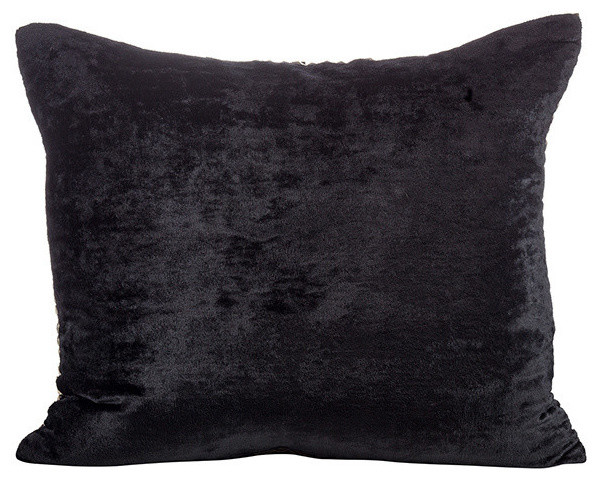 Jild Pillow, Black Velvet Back