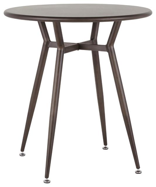 LumiSource Clara Round Dinette Table, Antique Metal