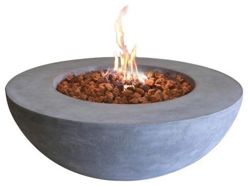Cast Concrete Lunar Bowl, Natural Gas