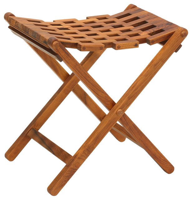 Bare Decor Mosaic Folding Stool Solid Teak Wood contemporary-outdoor-folding-chairs  sc 1 st  Houzz & Bare Decor Mosaic Folding Stool Solid Teak Wood - Contemporary ... islam-shia.org