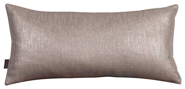 Howard Elliott Kidney Pillow, Pewter, Polyester Insert
