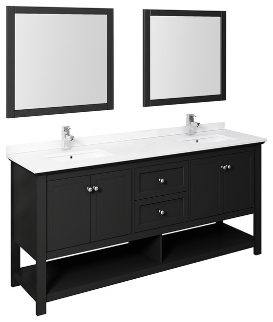 Double Sink Vanity With Mirrors