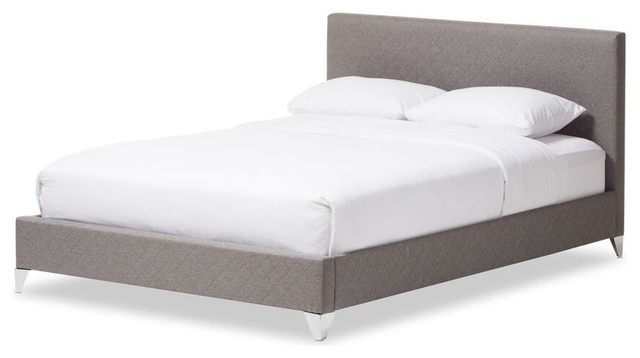 Harlow Quilted Fabric Upholstered Platform Bed Contemporary Platform Beds By Baxton Studio Houzz