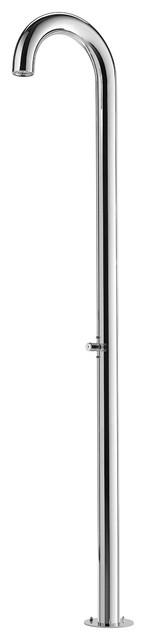 Club Free Standing Shower Column, Self-Closing Ada Metered Push Valve.