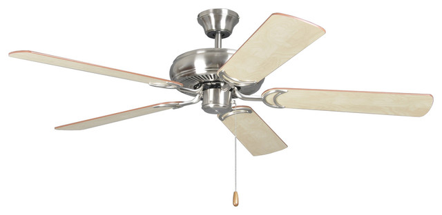 Decorator&x27;s Choice 52 Ceiling Fan, Brushed Polished Nickel.
