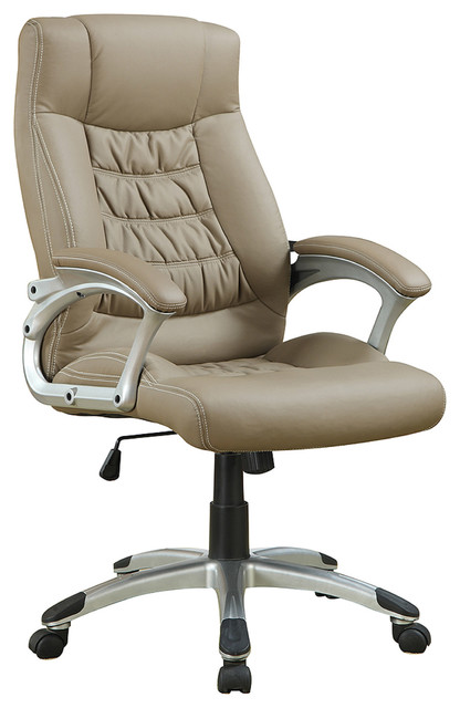 Coaster Beige Leatherette Office Chair.