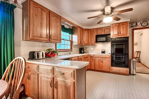 Updating Kitchen Cabinets Without Paint Oak With White Front