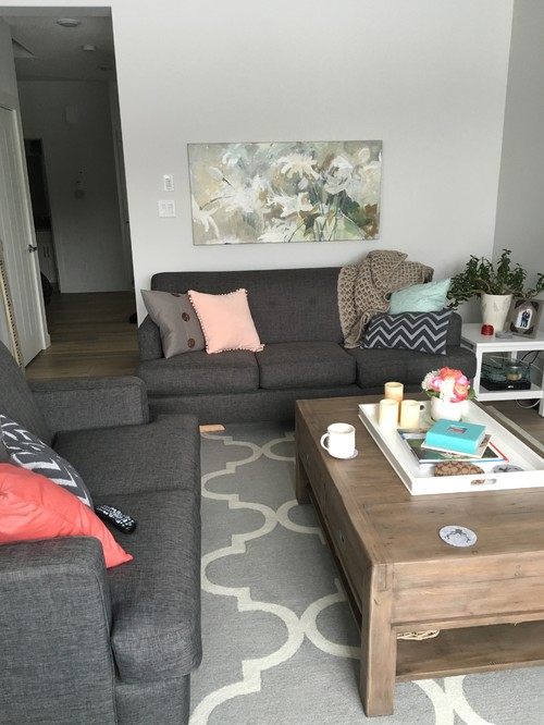 I Loved The Openness Of It But This Way Is Much More Functional. What Do  You Think? Should I Get Over Looking At The Back Of The Couch From The  Kitchen?