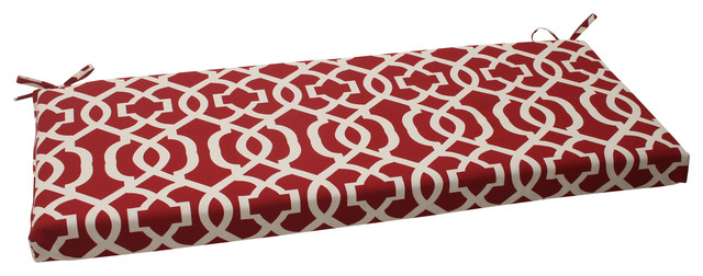 New Geo Red Bench Cushion