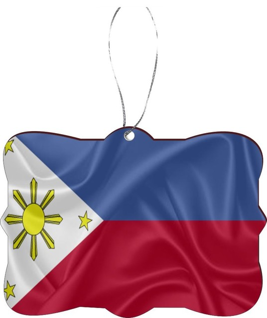 Philippines Flag Design Rectangle Christmas Tree Ornament