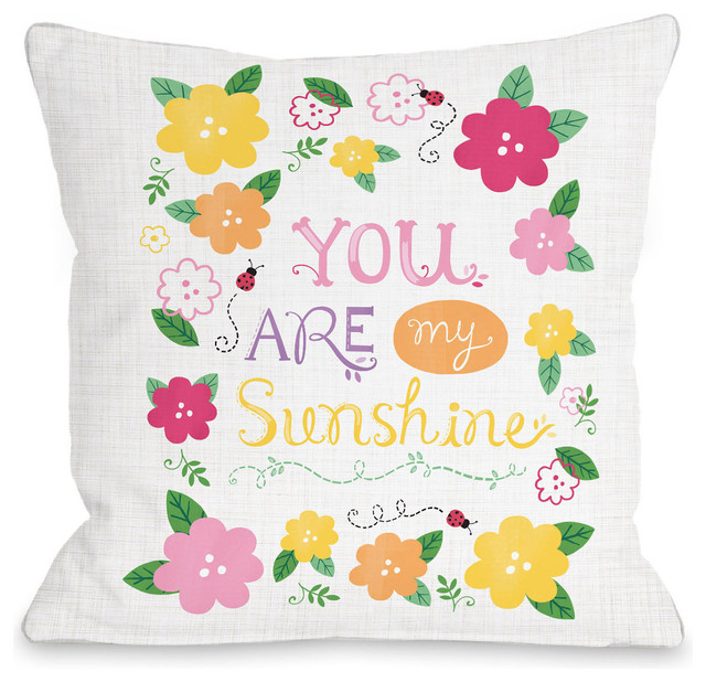 You Are My Sunshine Indoor Throw Pillow by Julissa Mora Cool You Are My Sunshine Decorative Pillow