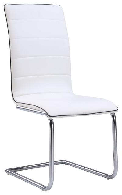 Xenia Armless Side Chair, White