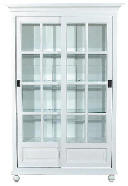 Beautiful White Curio China Display Cabinet