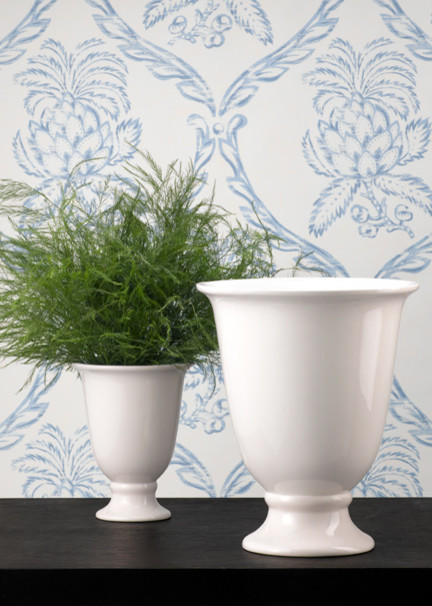 White Porcelain Urn Flower Vase