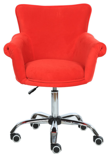 Microfiber Office Desk Chair Beauty Nail Salon Spa Vanity Seat Contemporary Chairs By Magshion Inc