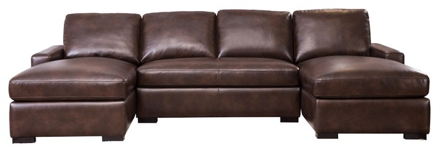 Phenomenal Abbyson Living Milan Sectional Brown Ncnpc Chair Design For Home Ncnpcorg