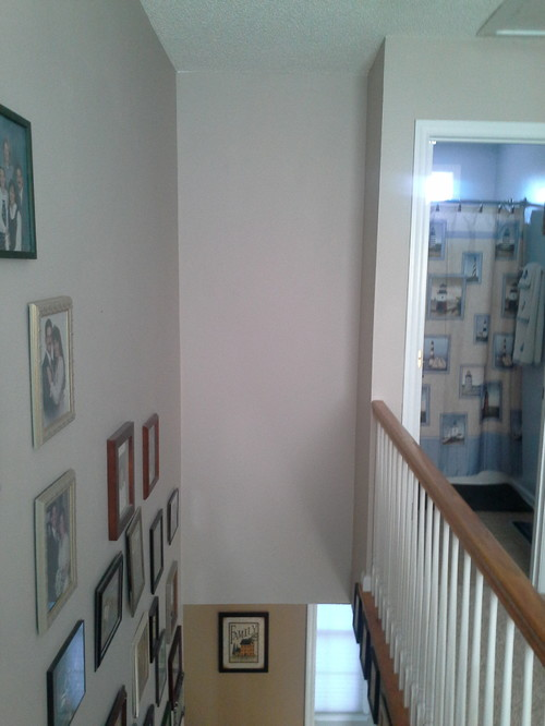 Any Ideas On How To Decorate This Tall, Narrow Space Over My Stairs? Itu0027s A  Wall You Look Straight At When Descending. It Measures 3 Ft Wide By 9 Ft  Tall.