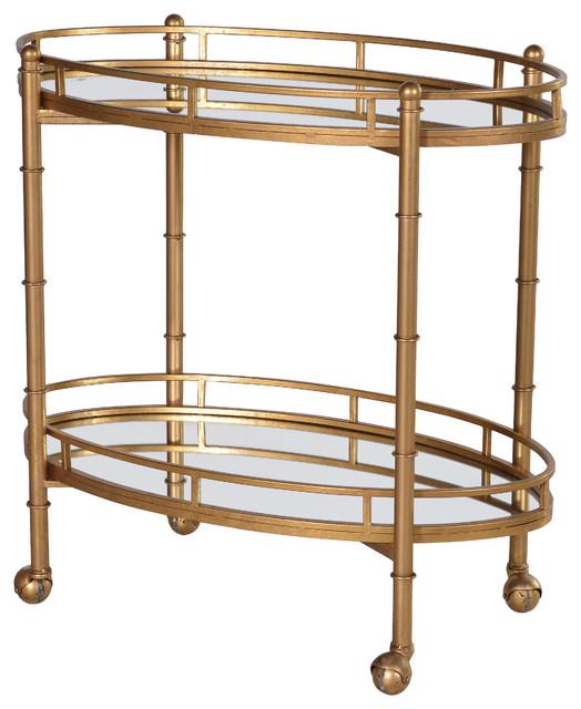 Gilt Mirrored Bar Cart