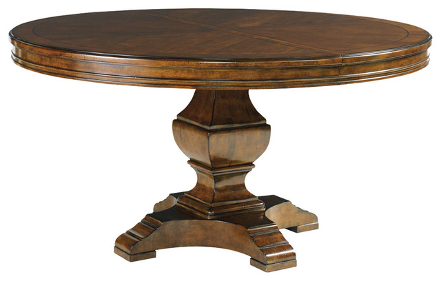 Lexington coventry hills ridgeview round dining table 945 for Traditional dining table uk