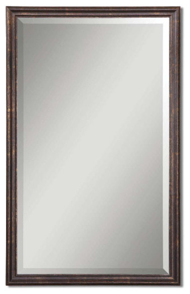 Uttermost Distressed Bronze Renzo Mirror Traditional