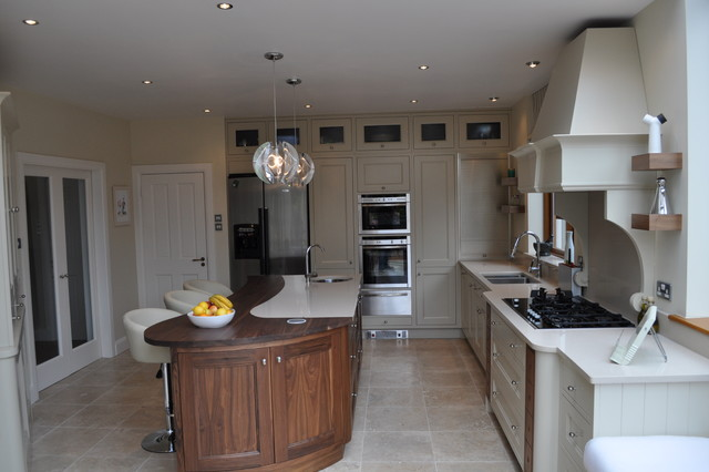 Sensational Painted Kitchen With Walnut Island Modern Kitchen Home Interior And Landscaping Ologienasavecom