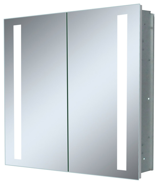 Double Door Recessed Led Medicine Cabinet Modern Cabinets By Innoci Usa