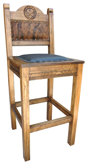 Texas Western Bar Stool Cowhide Counter Height