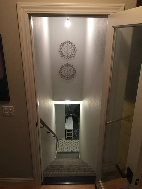 Lighting Basement Washroom Stairs: Light Fixture Over Stairs